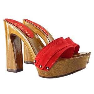 zoccoli rossi da donna