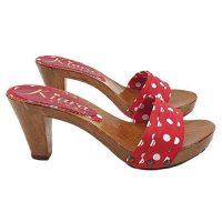 kiara shoes Zoccoli Rosso pois