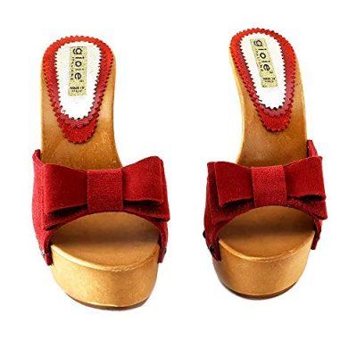 zoccoli rossi con plateau