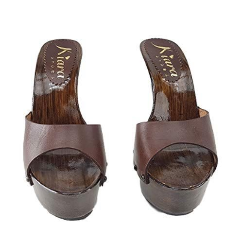 kiara shoes Zoccoli in Pelle Marrone