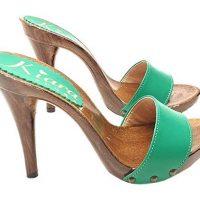 zoccoli verdi artigianali