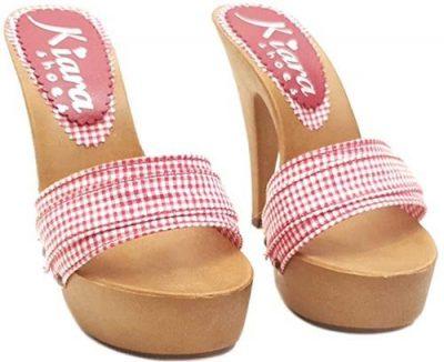 zoccoli con tacco stiletto vintage
