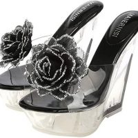transparent womens mules