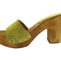 wooden clog 10cm high heel