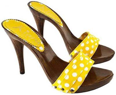zoccoli gialli pois