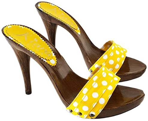 yellow mules pois