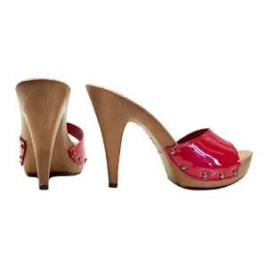 zoccolo rosso tacco 13