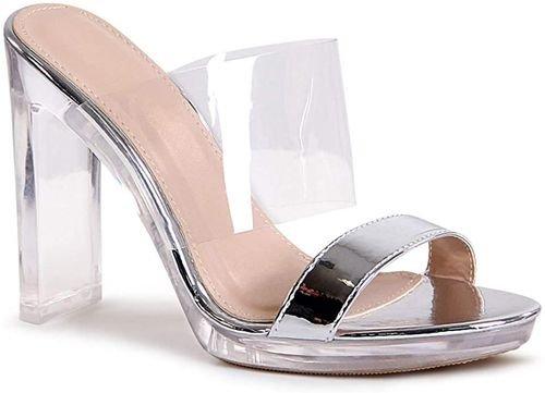Sheer-heeled sandals