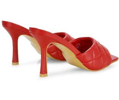 sandali trapuntati rossi