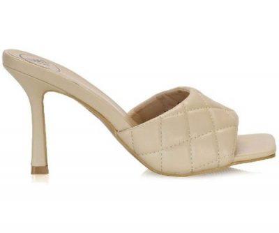 sandalo trapuntato punta quadra