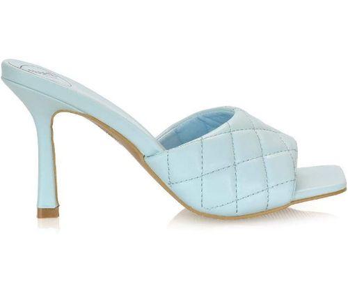 sandalo trapuntato azzurro
