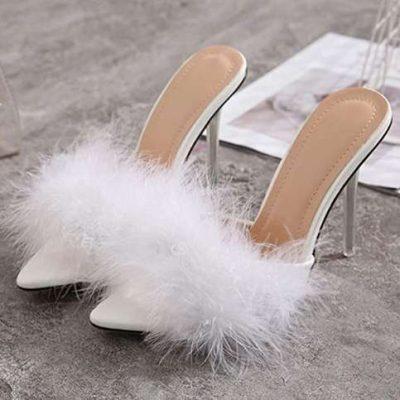 sandali di pelliccia