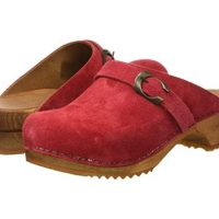 Sanita women red clogs