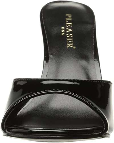 glossy black vintage sexy sandals