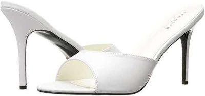 white pleaser sandals