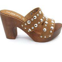 Zoccoli Silfer Shoes in legno e pelle