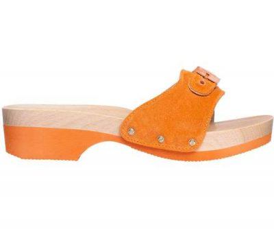 scholl zoccoli pescura arancione